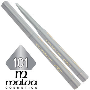 Malva - Карандаш M-300 для глаз механический Тон №101 silver перламутр