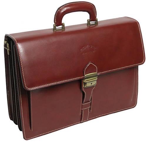 Деловой портфель из натуральной кожи Rovicky AWR-4-1 коричневый