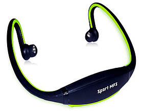 Наушники Sport MP3 плеер + FМ green (зеленый)
