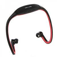 Наушники Sport MP3 плеер + FМ red (красный)