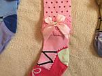 Колготки детские модные с бантиками, хорошие, фото 3