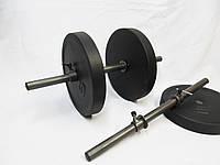 Гантели разборные 2 шт по 10 кг, гриф 25 Ø длина 52 см.
