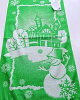 Махровое полотенце  лицевое 50*90 Снеговик