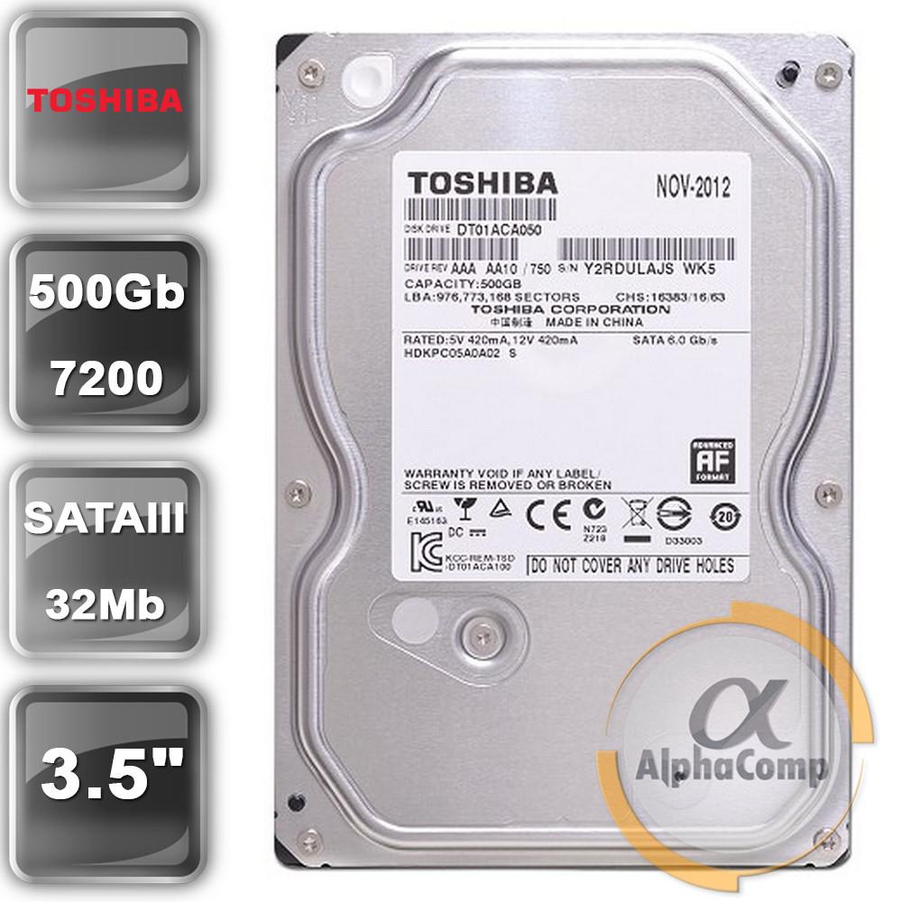 "Жесткий диск 3.5"" 500Gb Toshiba DT01ACA050 (32Mb/7200/SATAIII) БУ"