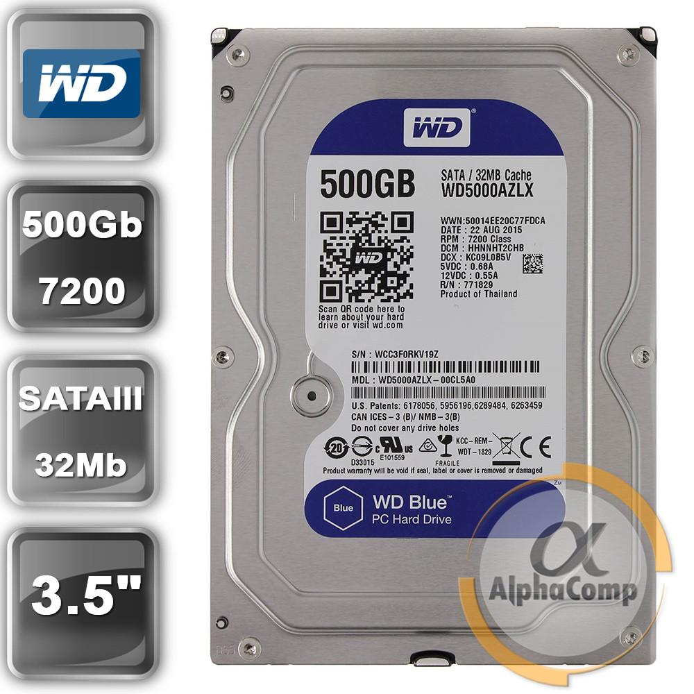 """Жесткий диск 3.5"""" 500Gb WD WD5000AZLX (32Mb/7200/SATAIII) БУ"""