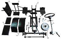 Набор для переоборудования мотоблока в минитрактор Премиум(механические тормоза)