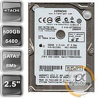 """Жесткий диск 2.5"""" 500Gb Hitachi HTS547550A9E384 (8Mb/5400/SATAII) БУ"""
