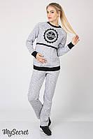 Штаны спортивные Pleasure для беременных, теплые  (серый)