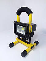 Прожектор LED аккум. 10w 6500K IP65 6500LM LEMANSO жёлтый / LMP8-10