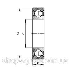 Подшипник SKF 6207.2RS1/C4, 80-180207, CLAAS 212226.0