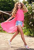 Розовая пляжная туника  , размера 42, 44, 46, 48.