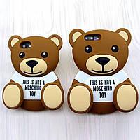 3D чехол Moschino Teddy Bear для iPhone 7 и iPhone 7 Plus Силиконовый Рельефный