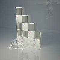 """Стеллаж - перегородка с ящиками  """"Золушка pink"""""""