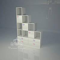 """Стеллаж - перегородка с ящиками  """"Золушка pink"""", фото 1"""