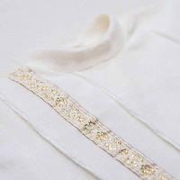 Крестильный костюм Мирослав для мальчика  д.р. Велюр Цвет белый, молочный рамер 74 Бетис