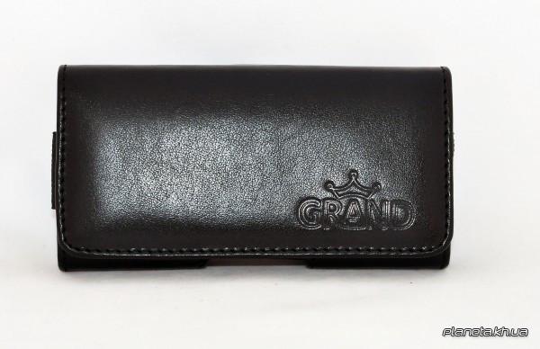 Grand Premium чехол на пояс для Nokia 230 Black ( универсальный карман )