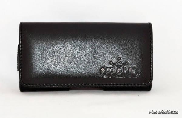 Grand Premium чехол на пояс для Nokia 230 Black ( универсальный карман ), фото 2