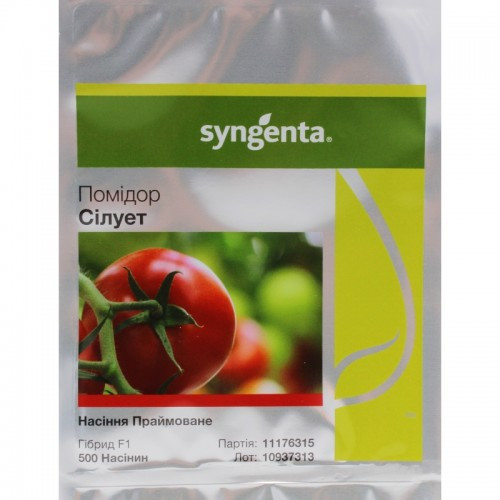 Семена томата Силуэт F1 500 семян (Syngenta) — 7 ранний (70-75 дней), красный, полудетерминантный, круглый