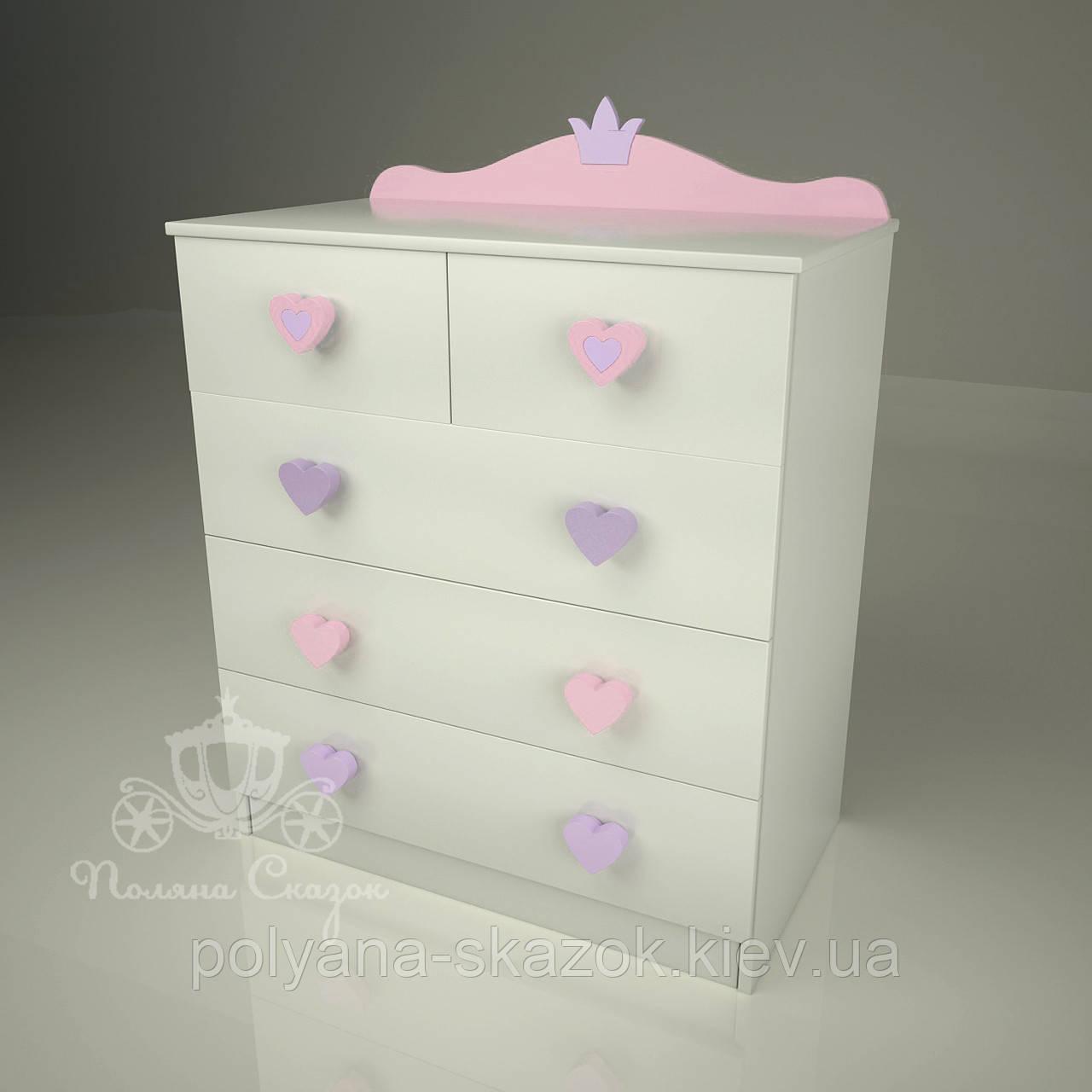"""Комод высокий """"Золушка pink"""", фото 1"""