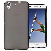 Силиконовый чехол для Huawei Y6 II / Honor 5A бампер серый/прозрачный