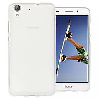 Силиконовый чехол для Huawei Y6 II / Honor 5A бампер матовая / прозрачная