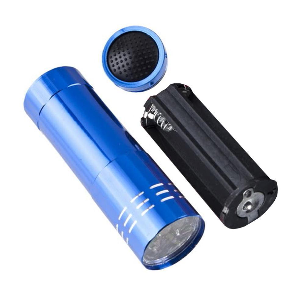 Ліхтарик кишеньковий 9 LED blue (синій)