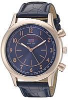 Мужские часы U.S. Polo Assn. US5218 корпус розовое золото синий текстурированный ремешок ОРИГИНАЛ США