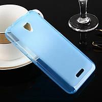 Силиконовый чехол для Lenovo A Plus (A1010a20) бампер голубой / прозрачный