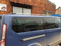 "Рейлинги Ford Tourneo Custom 2013+  Тур.тип - Premium, Пластиковые ножки, цвет ""Серый металлик"""