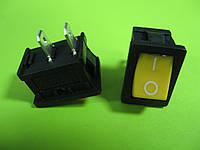 Переключатель желтый ON-OFF (3A 250VAC) SPST 2P MRS-101 2 PIN