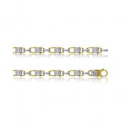 Золотой браслет комбинированный