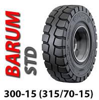 Шина цільнолита 300-15 (315/70-15) цільнолита шина Barum, цельнолитая шина, гусматик