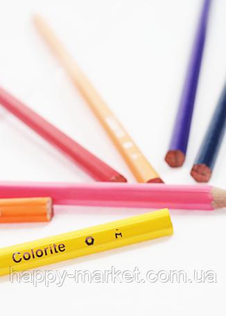 """Карандаши цветные длинные """"MARCO"""" Colorite в металлическом пенале(24 цвета) 1100-24TN, фото 2"""