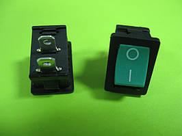 Переключатель зеленый ON-OFF (3A 250VAC) SPST 2P MRS-101 2 PIN