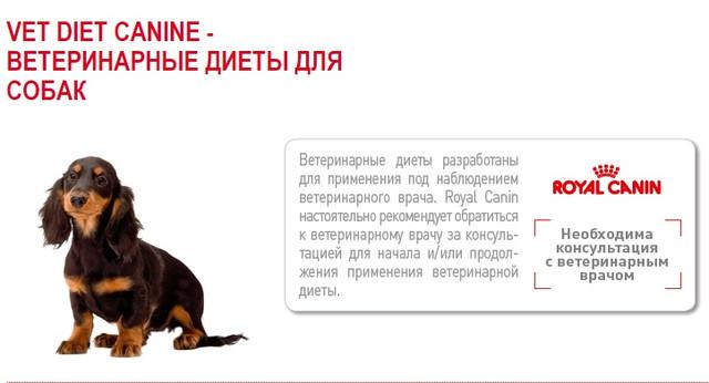 Royal Canin лікувальні корми для собак