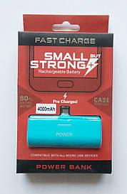 Мобильный аккумулятор для Android с Micro USB (power bank, mobile power) 5V/1A, 4000 mAh