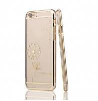 Чехол SWAROVSKI Dandelion Clear Gold для iPhone 6/6s