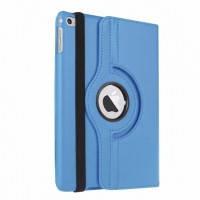 Кожаный чехол 360 Rotating для iPad mini 4  Rotating  360 Голубой