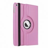 Кожаный чехол для планшета  для iPad mini 4  Rotating 360 Светло-розовый