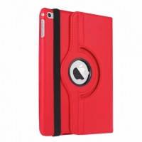 Кожаный чехол для планшета  для iPad mini 4  Rotating 360 Красный
