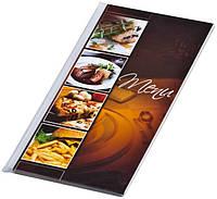 Папка Меню Panta Plast Cafe 1/2А4 прозрачная 0309-0057-99