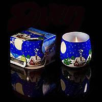 Свечи в стакане Winter Зима ароматизированные