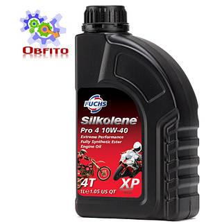 """Синтетическое эфирное моторное масло """"Silkolene PRO 4 10W-40 XP', 1л"""