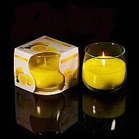 Свечи Лимон в стакане, ароматизированные