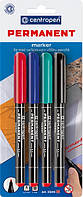 Набор перманентных маркеров Centropen 4 цвета 2846-04
