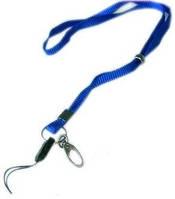 Шнурок для беджей Agent D004 с карабином синий 3420473