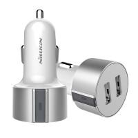 Автомобильное зарядное устройство Nillkin Vigor Dual Port USB Silver