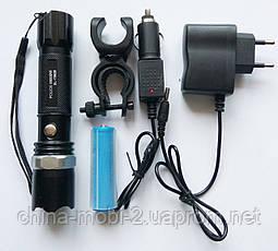 LED-фонарик Police BL-8628 99000W с креплением на велосипед, фото 3