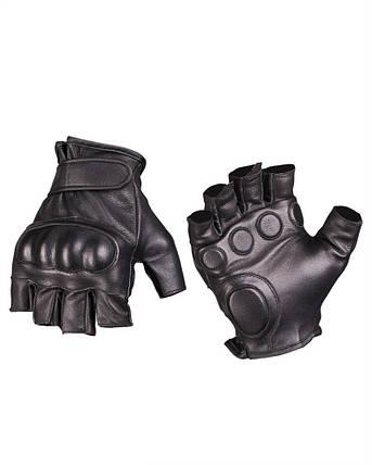 Тактические перчатки кожаные беспалые MilTec Black 12504502, фото 2