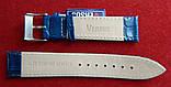 Ремешок для часов Versus. 20 мм синий. Италия. , фото 2